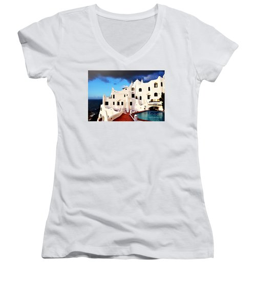 Casa Pueblo Al Mar Women's V-Neck T-Shirt