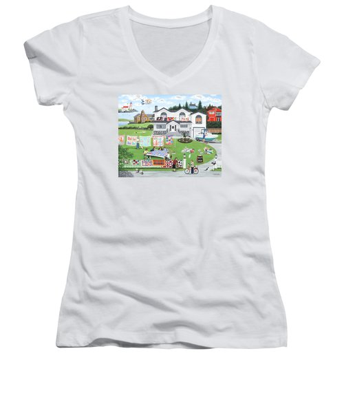 Cat Lovers Society  Women's V-Neck (Athletic Fit)