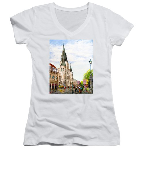 Cathedral Plaza - Jackson Square, French Quarter Women's V-Neck