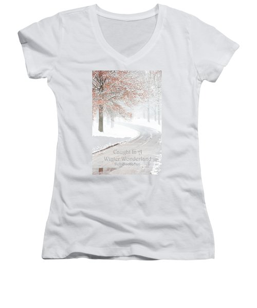 Caught In A Winter Wonderland Women's V-Neck (Athletic Fit)