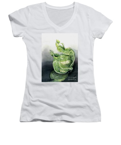 Cauliflower In Reflection Women's V-Neck (Athletic Fit)