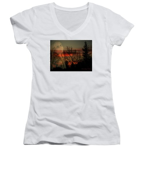 Women's V-Neck T-Shirt (Junior Cut) featuring the photograph Celebrate Life by Joyce Dickens