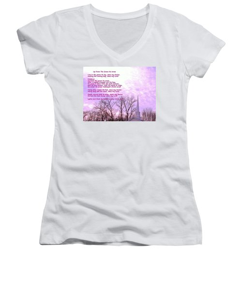 Celebrating The Resurrection Women's V-Neck (Athletic Fit)