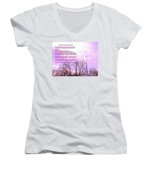 Celebrating The Resurrection Women's V-Neck T-Shirt