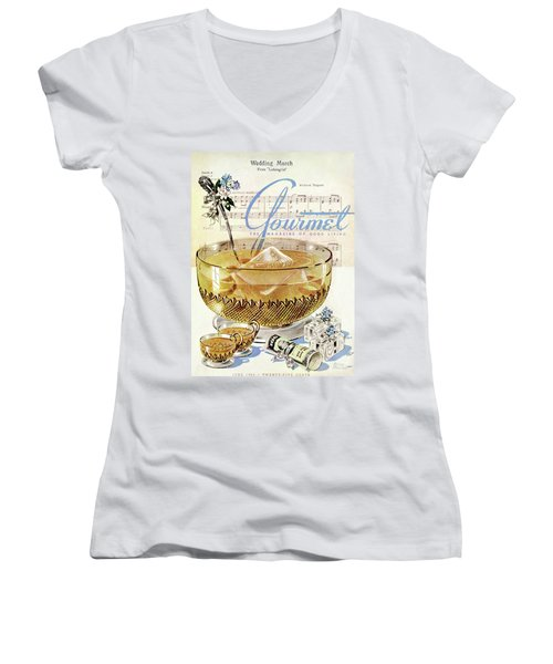 Champagne Punch And The Wedding March Women's V-Neck