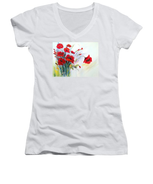 Charming Women's V-Neck T-Shirt (Junior Cut) by Dorothy Maier