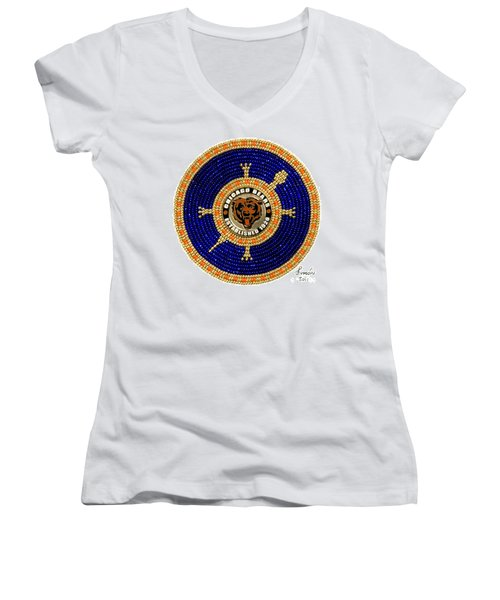 Chicago Bears Women's V-Neck (Athletic Fit)