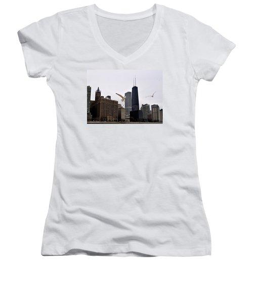 Chicago Birds 2 Women's V-Neck T-Shirt