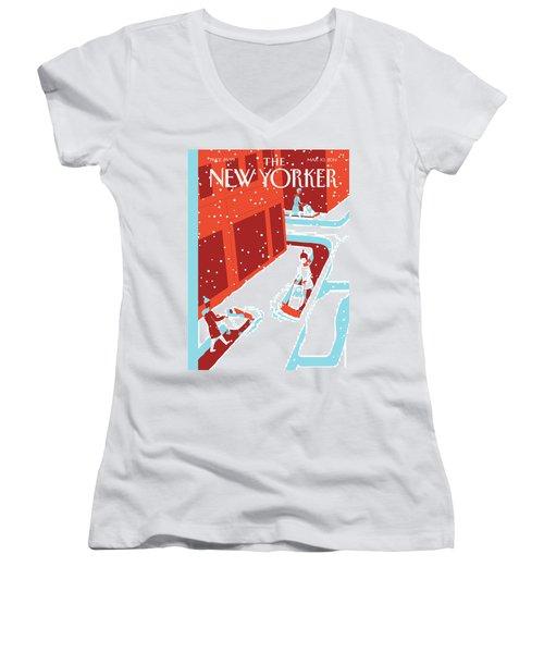 Snowplows Women's V-Neck