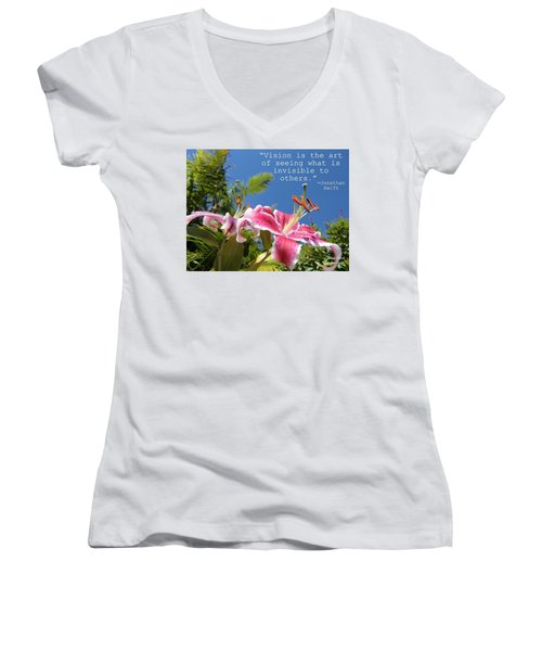 Choose Your Quote Choose Your Picture 19 Women's V-Neck