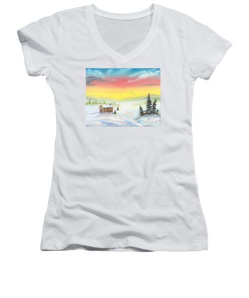 Christmas Morning Women's V-Neck