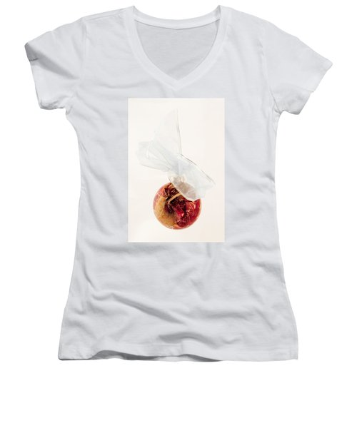 Christmas Decoration Decoupaged Women's V-Neck T-Shirt (Junior Cut) by Vizual Studio