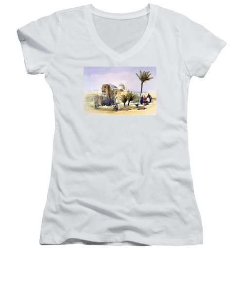 Church Of The Holy Sepulchre In Jerusalem Women's V-Neck (Athletic Fit)