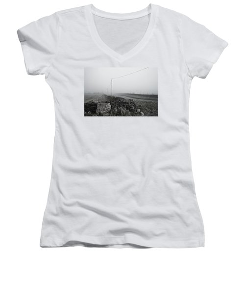 Clearing Fog Women's V-Neck (Athletic Fit)