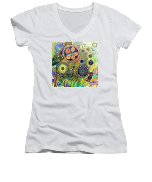 Clockwork Garden Women's V-Neck T-Shirt