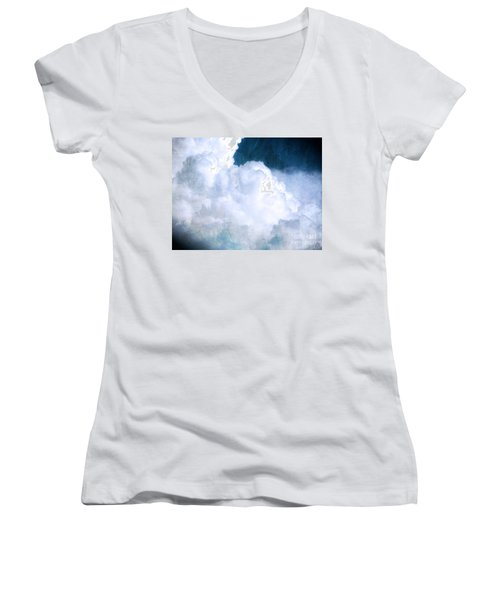 Clouds And Ice Women's V-Neck (Athletic Fit)