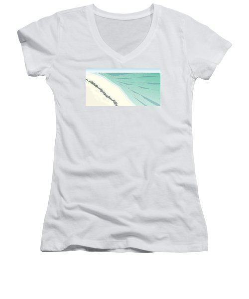 Coastal Wash Women's V-Neck (Athletic Fit)