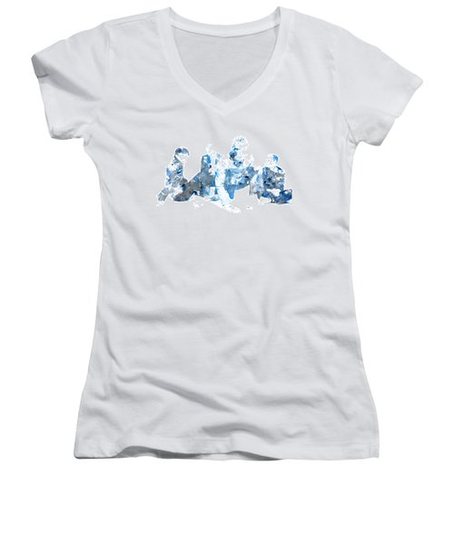 Coldplay Women's V-Neck T-Shirt (Junior Cut) by Brian Reaves