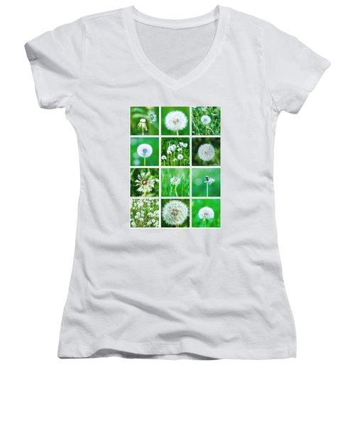 Collage June - Featured 3 Women's V-Neck T-Shirt (Junior Cut) by Alexander Senin