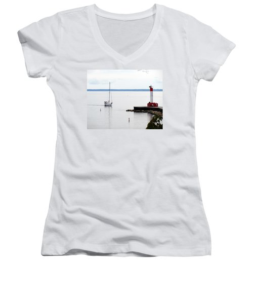Coming Home  Women's V-Neck (Athletic Fit)