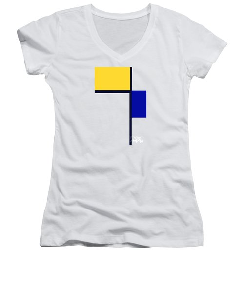 Women's V-Neck T-Shirt (Junior Cut) featuring the photograph Composition by Tina M Wenger