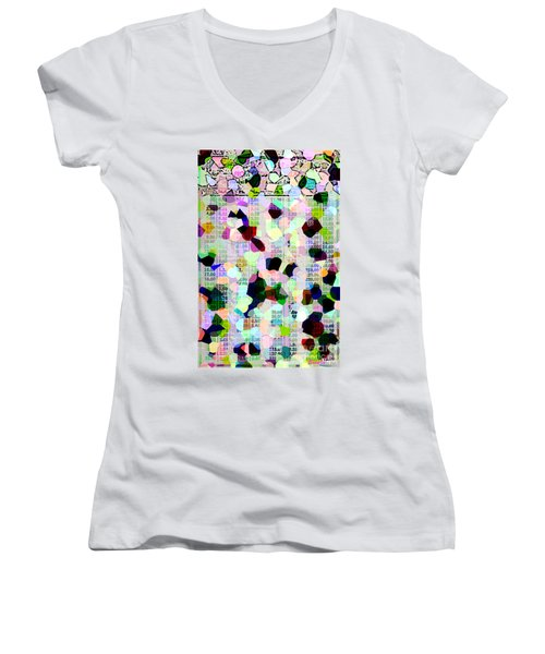 Women's V-Neck T-Shirt (Junior Cut) featuring the photograph Confetti Table by Ecinja Art Works