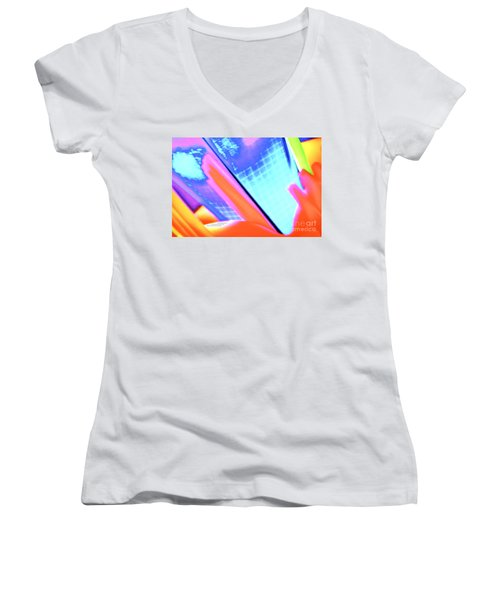 Consuming The Grid Women's V-Neck (Athletic Fit)