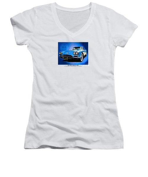 Cool Corvette Women's V-Neck (Athletic Fit)