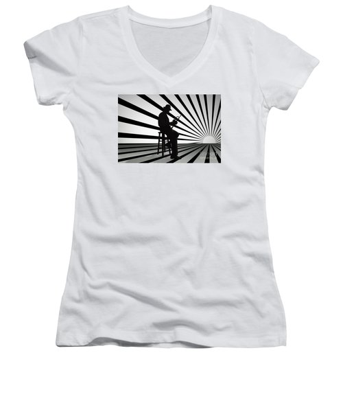Cool Jazz 2 Women's V-Neck (Athletic Fit)