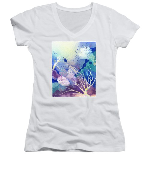 Coral Reef Dreams 4 Women's V-Neck (Athletic Fit)