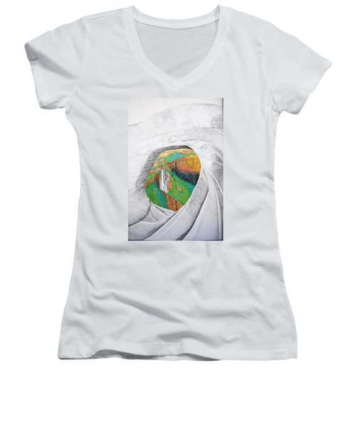 Cornered Stones Women's V-Neck T-Shirt (Junior Cut)
