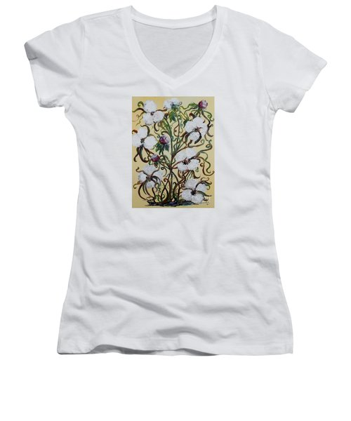 Cotton #1 - King Cotton Women's V-Neck T-Shirt