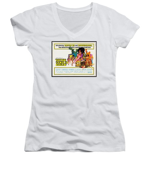 Cotton Comes To Harlem Poster Women's V-Neck (Athletic Fit)