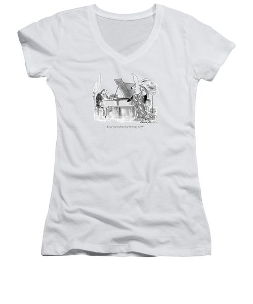 Could You Kindly Pick Up The Tempo A Bit? Women's V-Neck