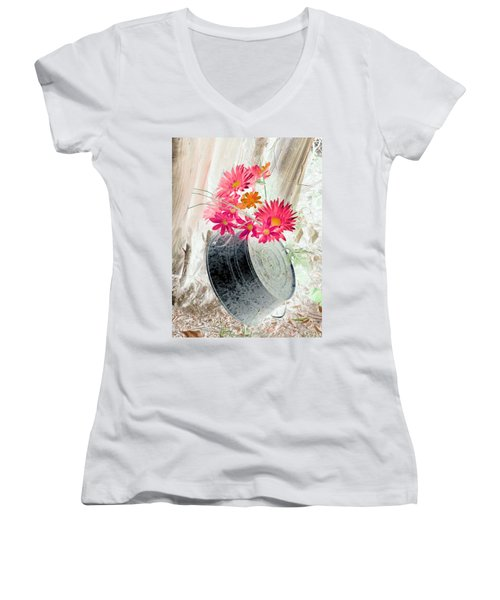 Country Summer - Photopower 1499 Women's V-Neck T-Shirt
