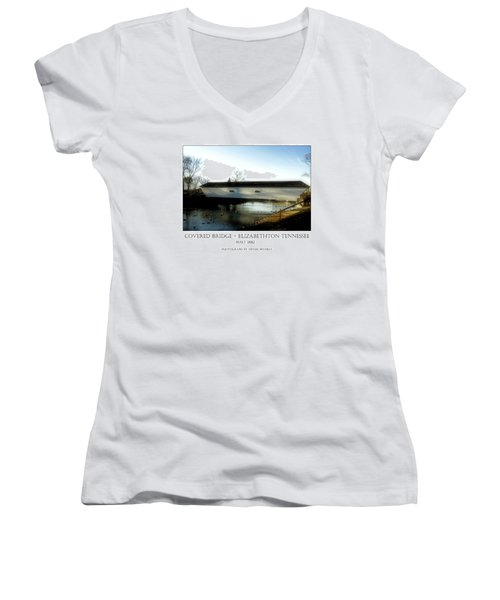 Covered Bridge - Elizabethton Tennessee Women's V-Neck (Athletic Fit)