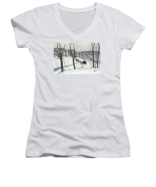 Covered Bridge Women's V-Neck (Athletic Fit)