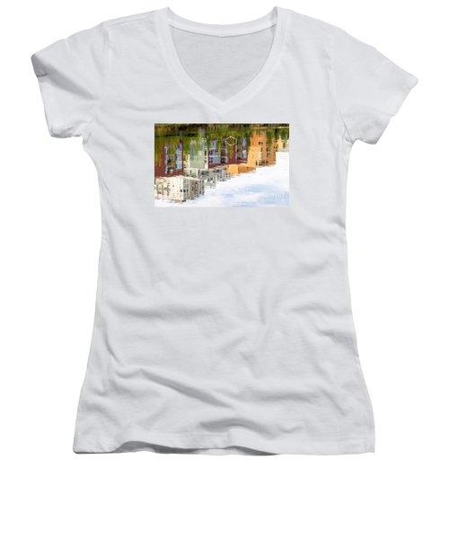 Creekside Reflections Women's V-Neck T-Shirt