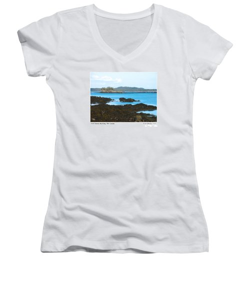 Crow Island Bay Of Fundy Nb Women's V-Neck