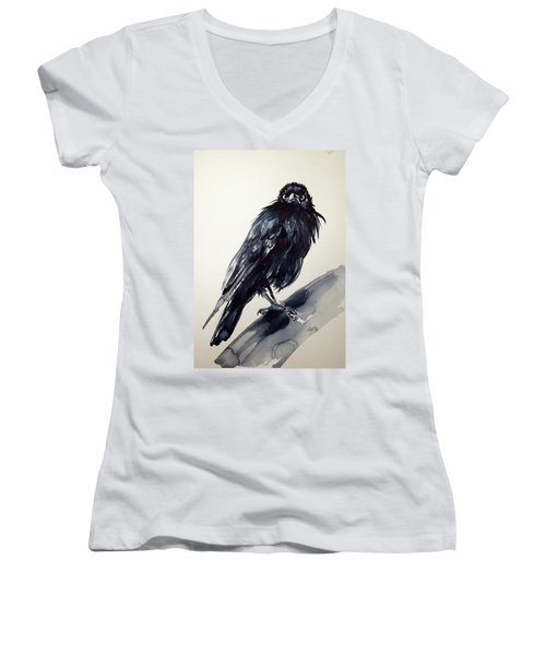 Crow Women's V-Neck T-Shirt (Junior Cut)