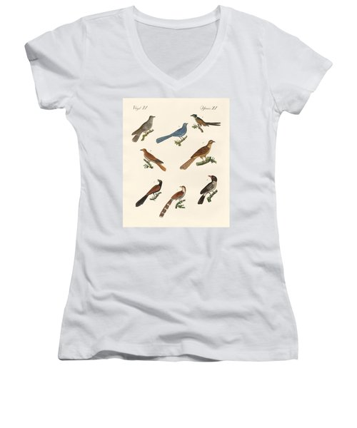 Cuckoos From Various Countries Women's V-Neck T-Shirt (Junior Cut)