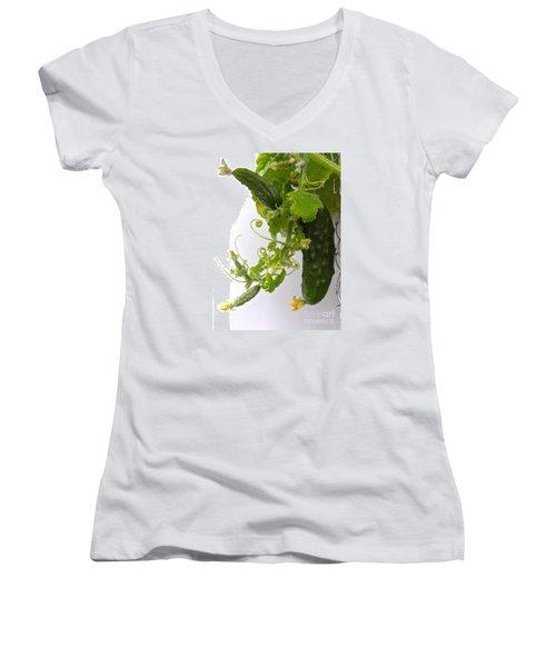 Cucumber Dance Women's V-Neck T-Shirt