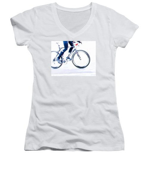 Cycling Women's V-Neck T-Shirt