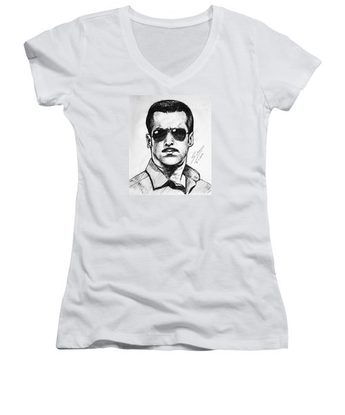 Salman Khan Women's V-Neck (Athletic Fit)