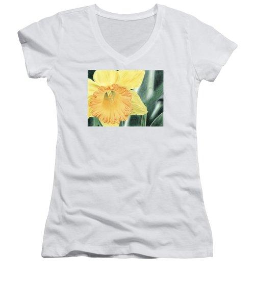Daffodil Dayz Women's V-Neck T-Shirt