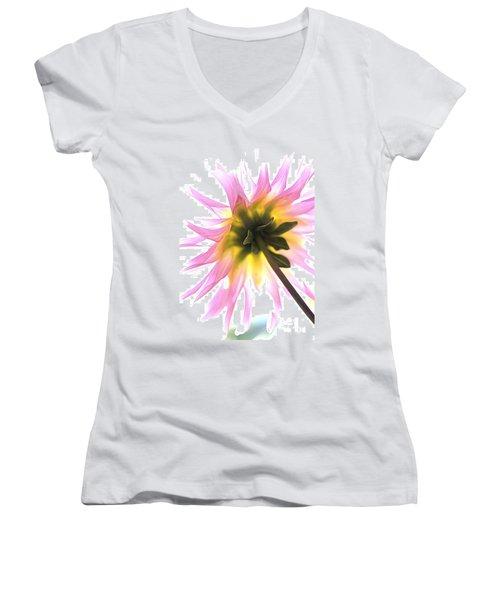 Dahlia Flower Women's V-Neck