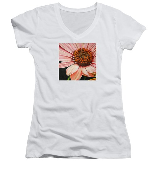 Daisy In Pink Women's V-Neck T-Shirt
