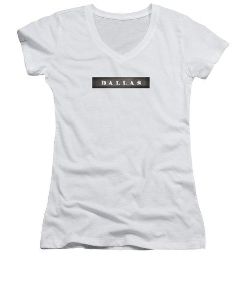 Dallas Women's V-Neck T-Shirt (Junior Cut) by Darryl Dalton