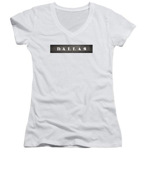 Dallas Women's V-Neck T-Shirt