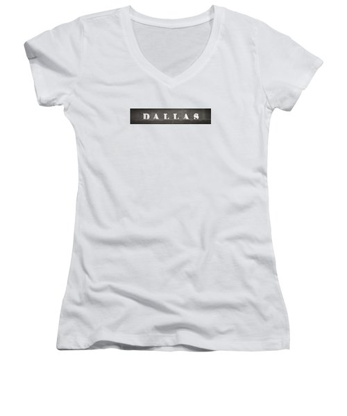 Dallas Women's V-Neck T-Shirt